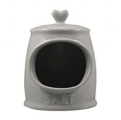 Grey Ceramic Love Heart Salt Storage Cellar Pig